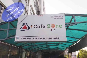 Cafe 91 Phase 8b Mohali Waterproofing